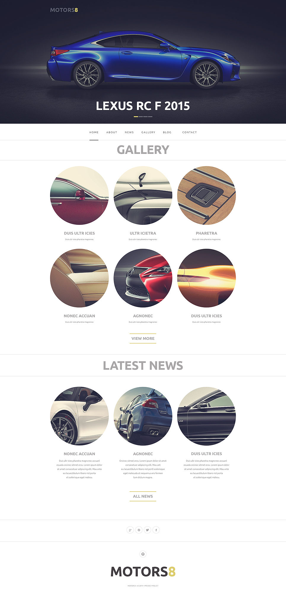 Адаптивный шаблон сайта на тему автомобиль #50763