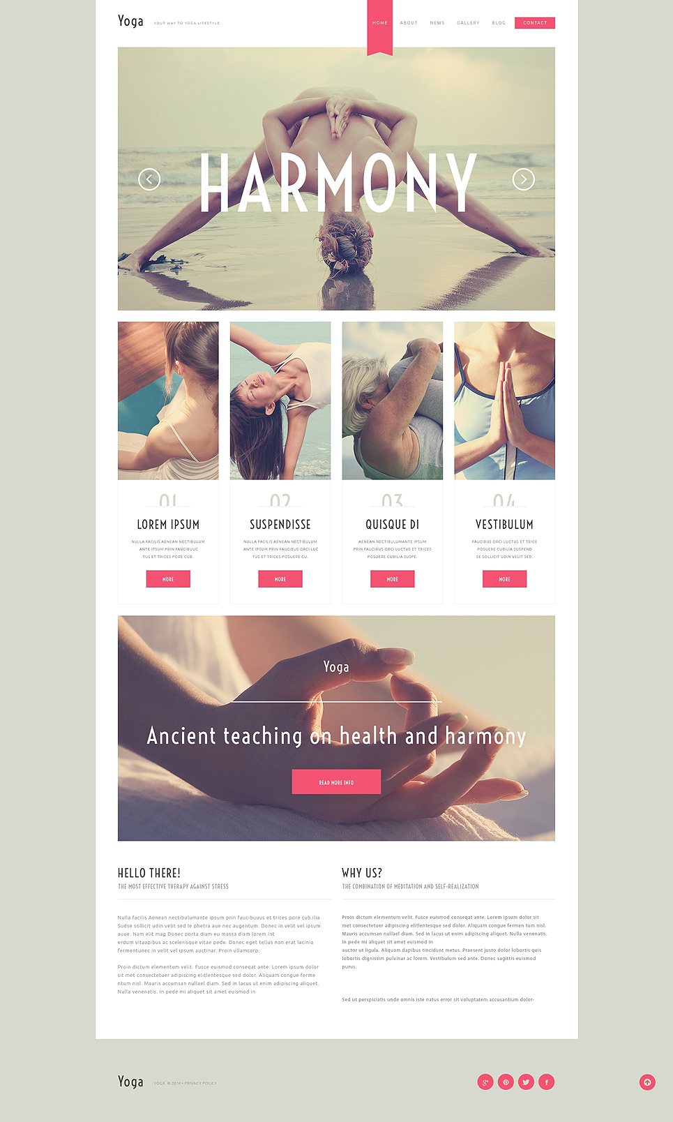 Адаптивный шаблон сайта на тему йога #50792