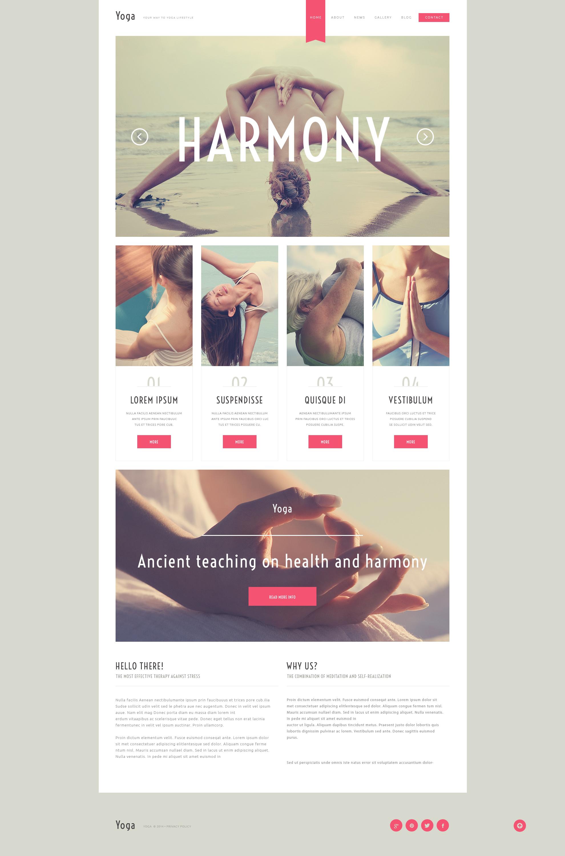 Адаптивный WordPress шаблон №50792 на тему йога - скриншот
