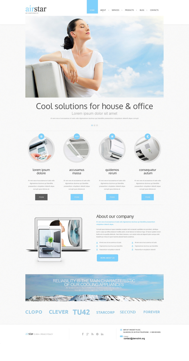 Air Conditioning Drupal Template New Screenshots BIG