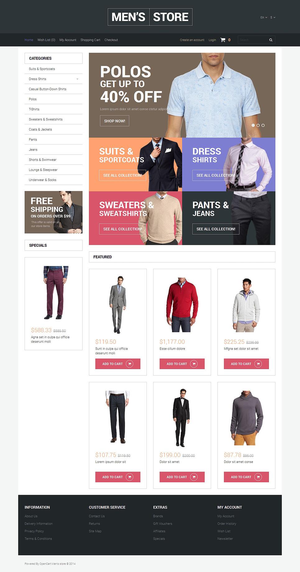 Apparel Responsive OpenCart Template New Screenshots BIG