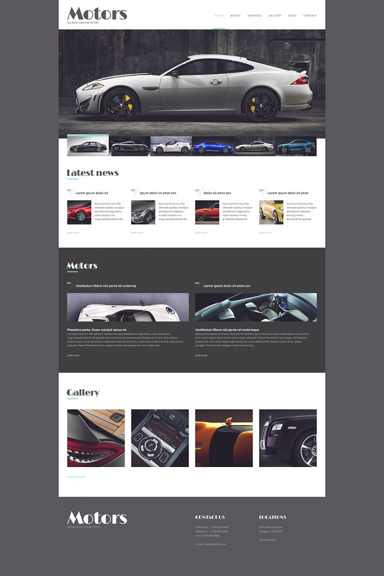 Automobile Manufacturer WordPress Theme New Screenshots BIG