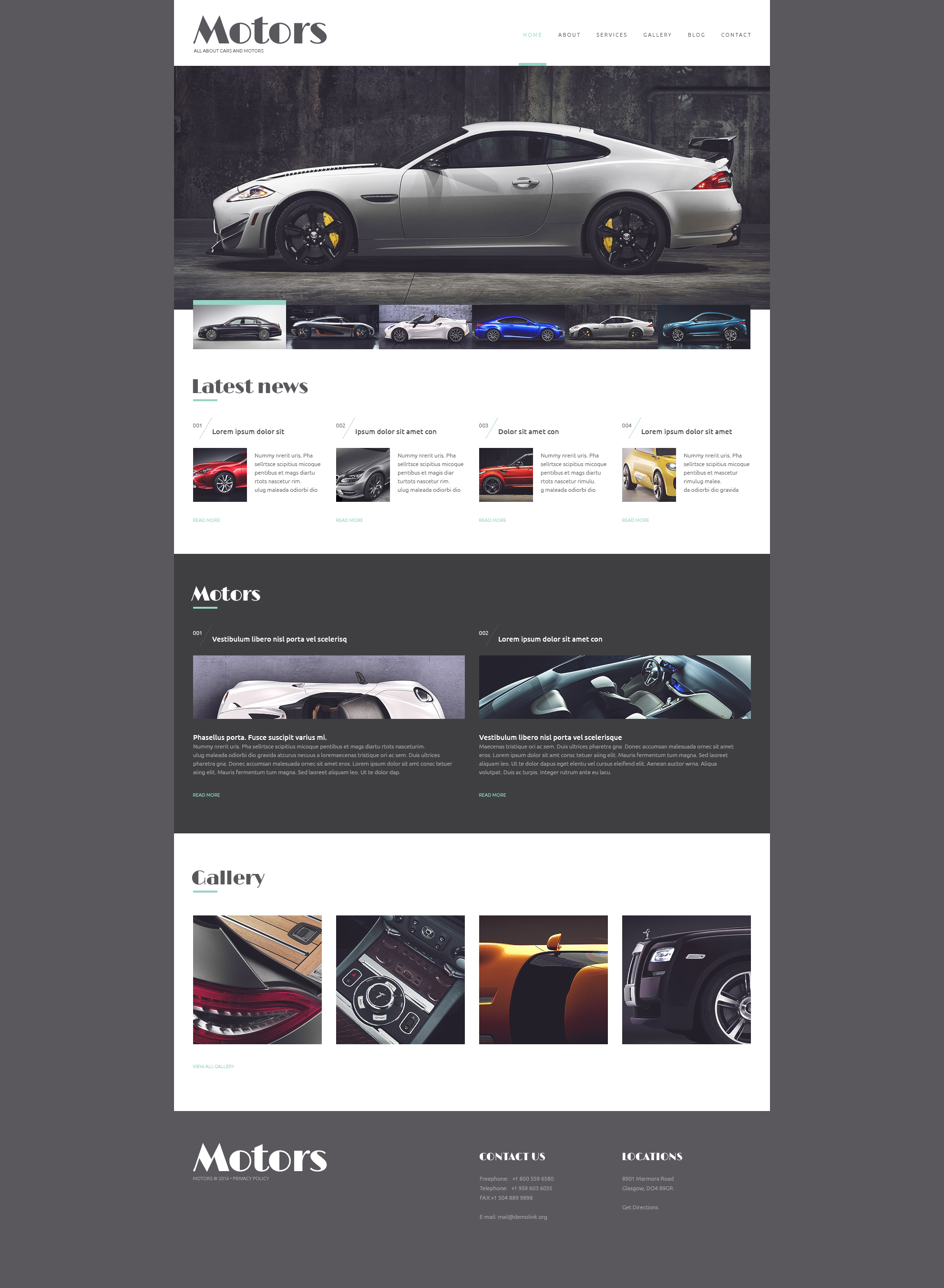 Automobile Manufacturer WordPress Theme #50734