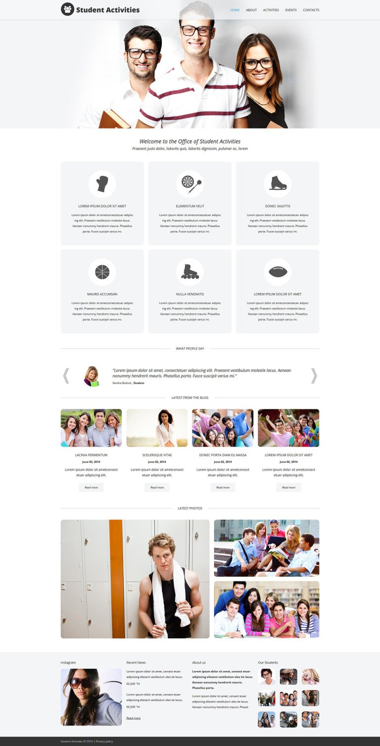 Campus Fun Board Joomla Template New Screenshots BIG