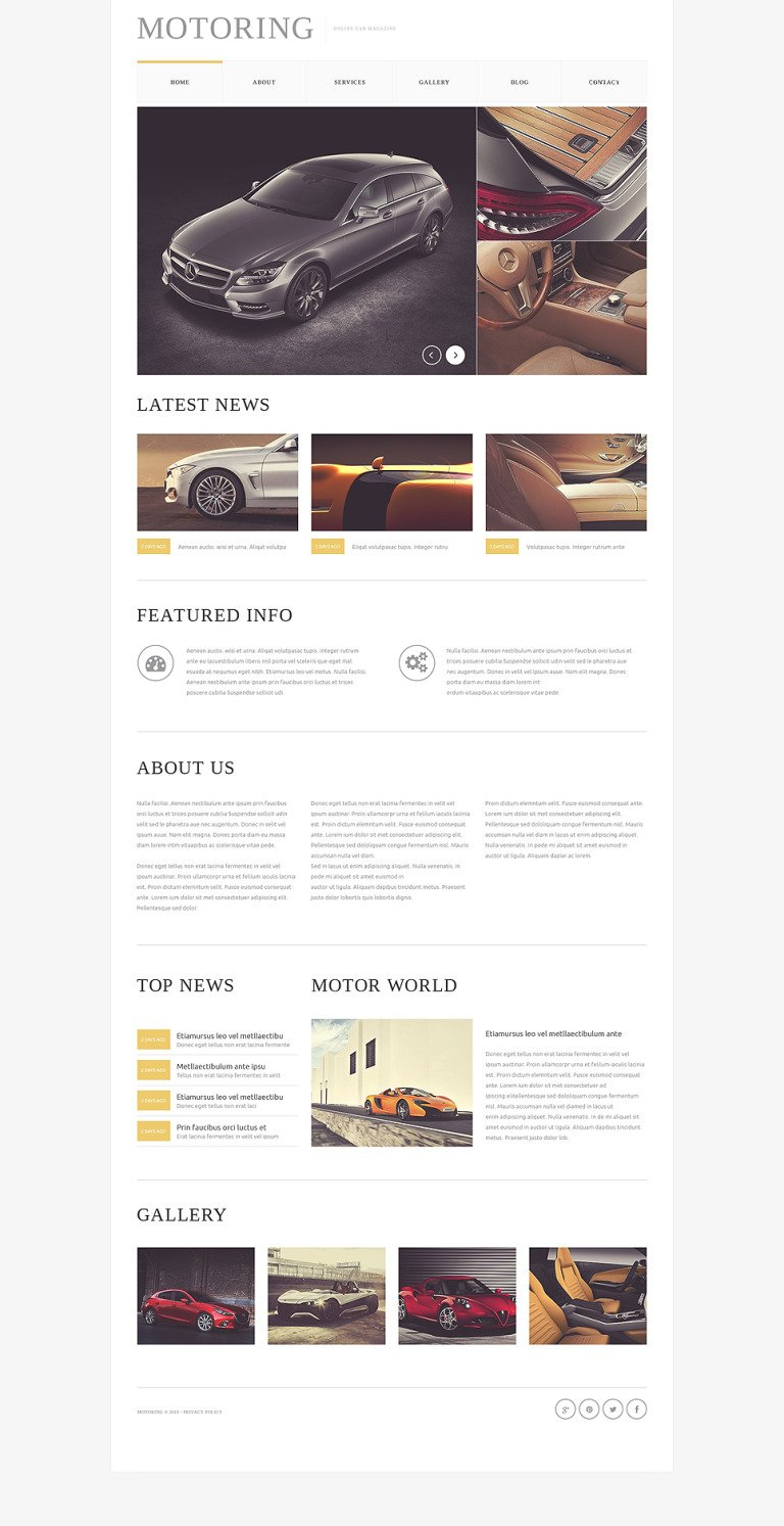 Car Bike Magazine Drupal Template New Screenshots BIG