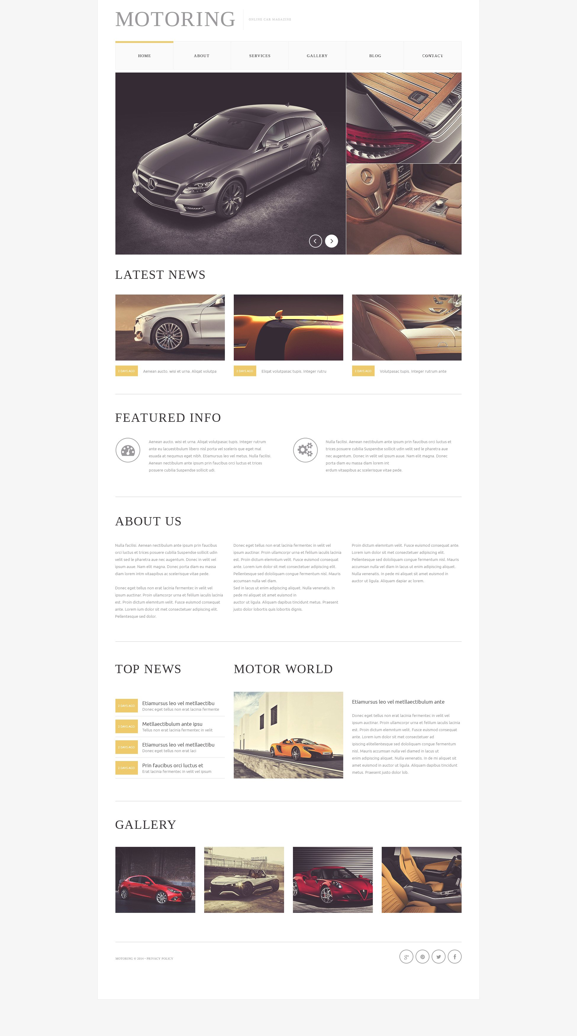 Car  Bike Magazine Drupal Template - screenshot