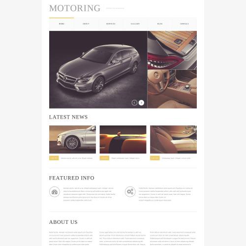 Motoring - HTML5 Drupal Template