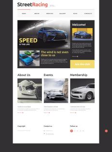 racing website templates