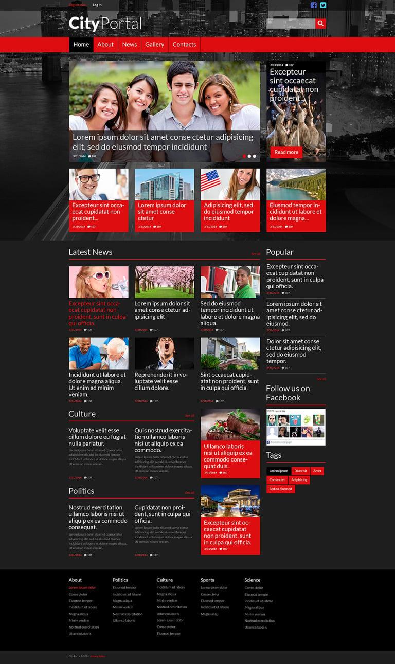 City Portal Responsive Website Template New Screenshots BIG