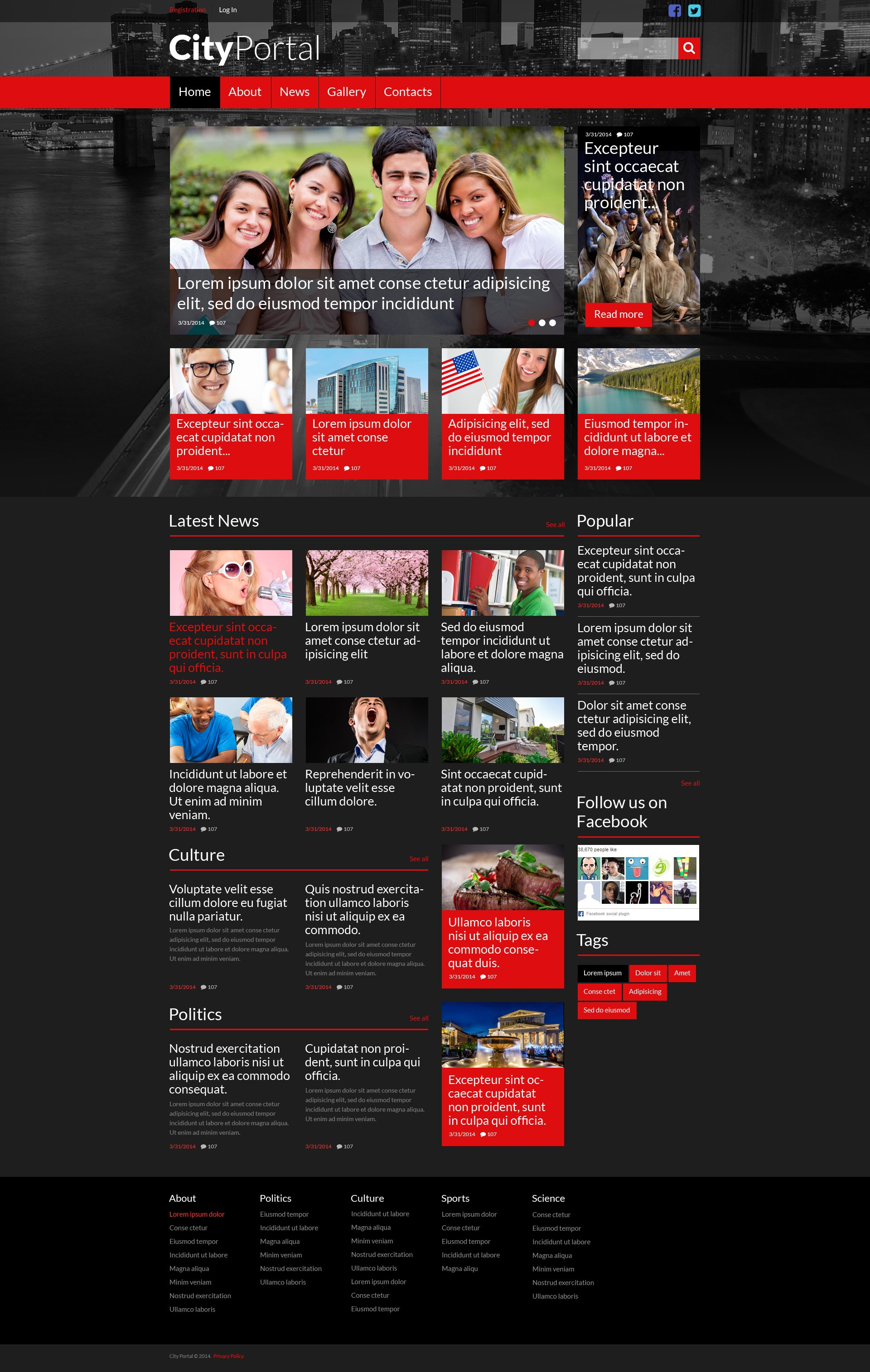 City Portal Responsive Website Template