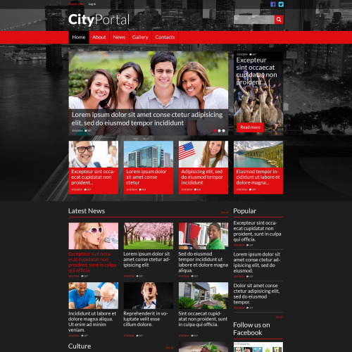 City Portal - Website Template based on Bootstrap