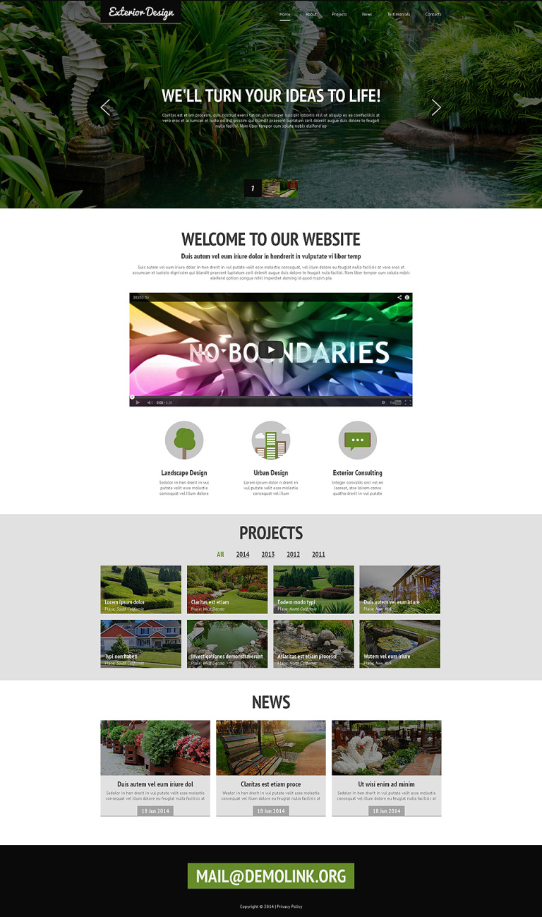 Designing Landscapes Joomla Template New Screenshots BIG