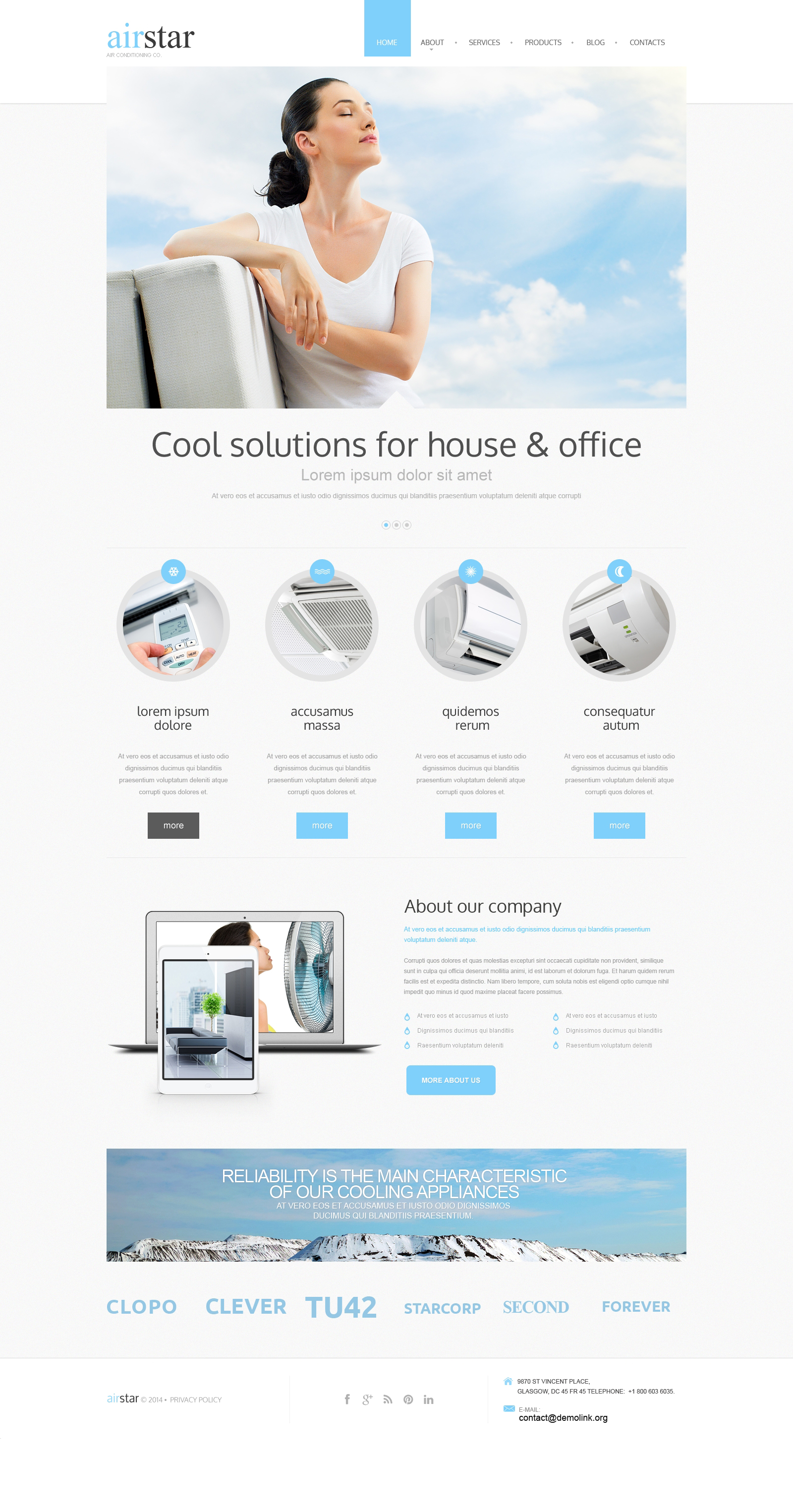 Drupal Template over Airconditioning №50707 - screenshot