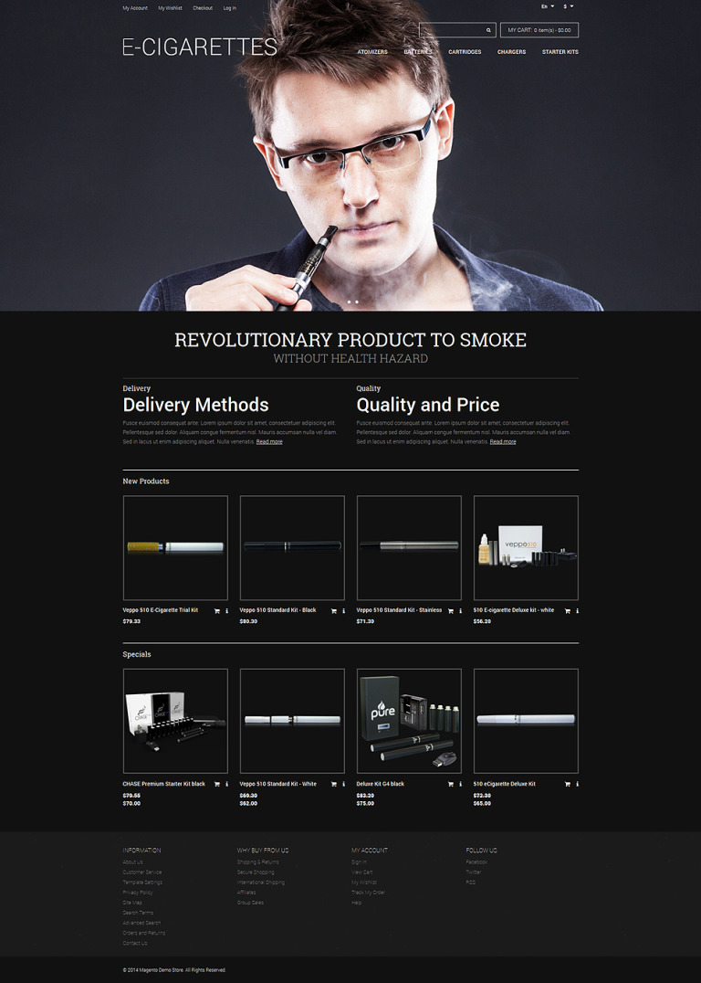 ECigarettes Store Magento Theme New Screenshots BIG