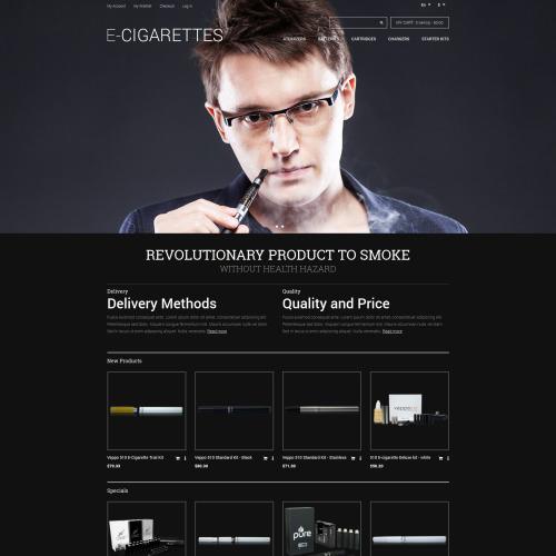 E- Cigarettes - Responsive Magento Template