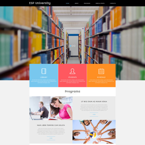 ESP University - Education Centre Joomla! Template based on Bootstrap