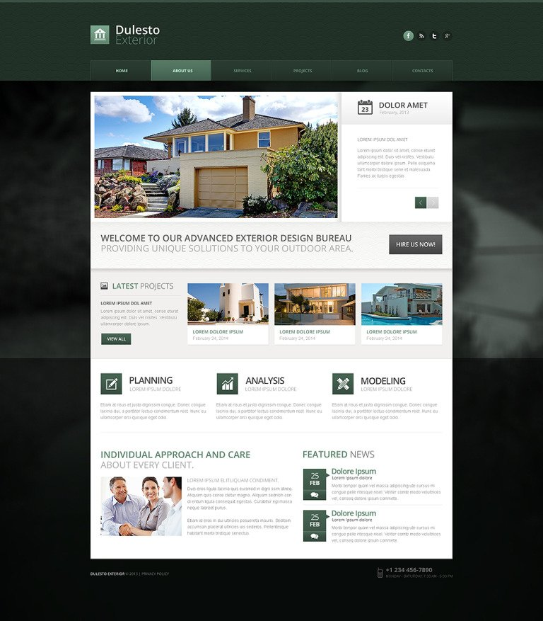 Exterior Design Drupal Template New Screenshots BIG
