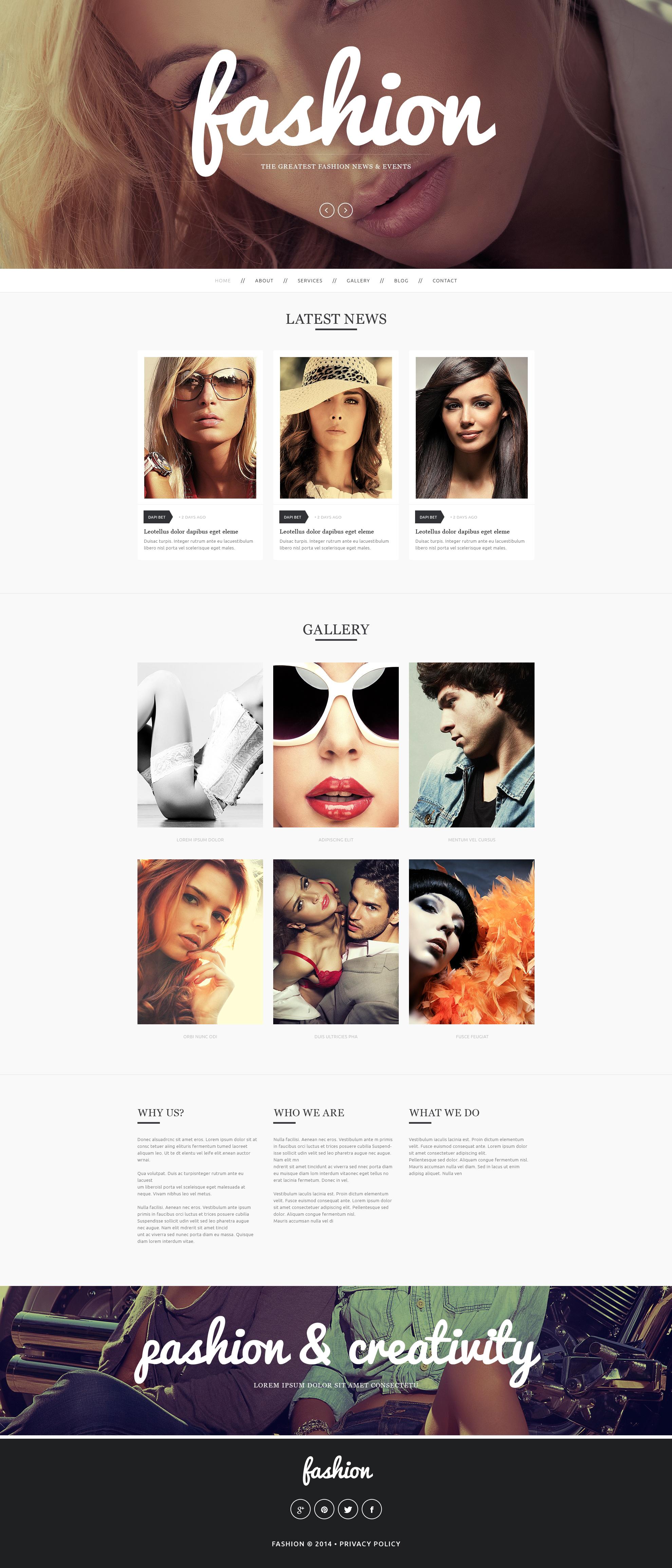 """""""Fashion"""" Drupal Template №50708"""
