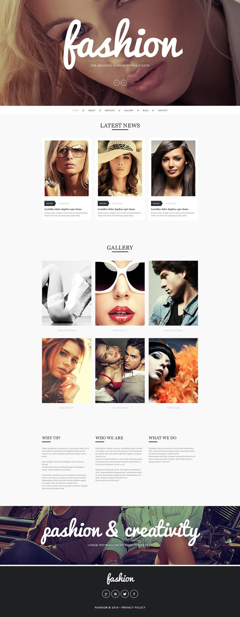 Fashion Drupal Template New Screenshots BIG