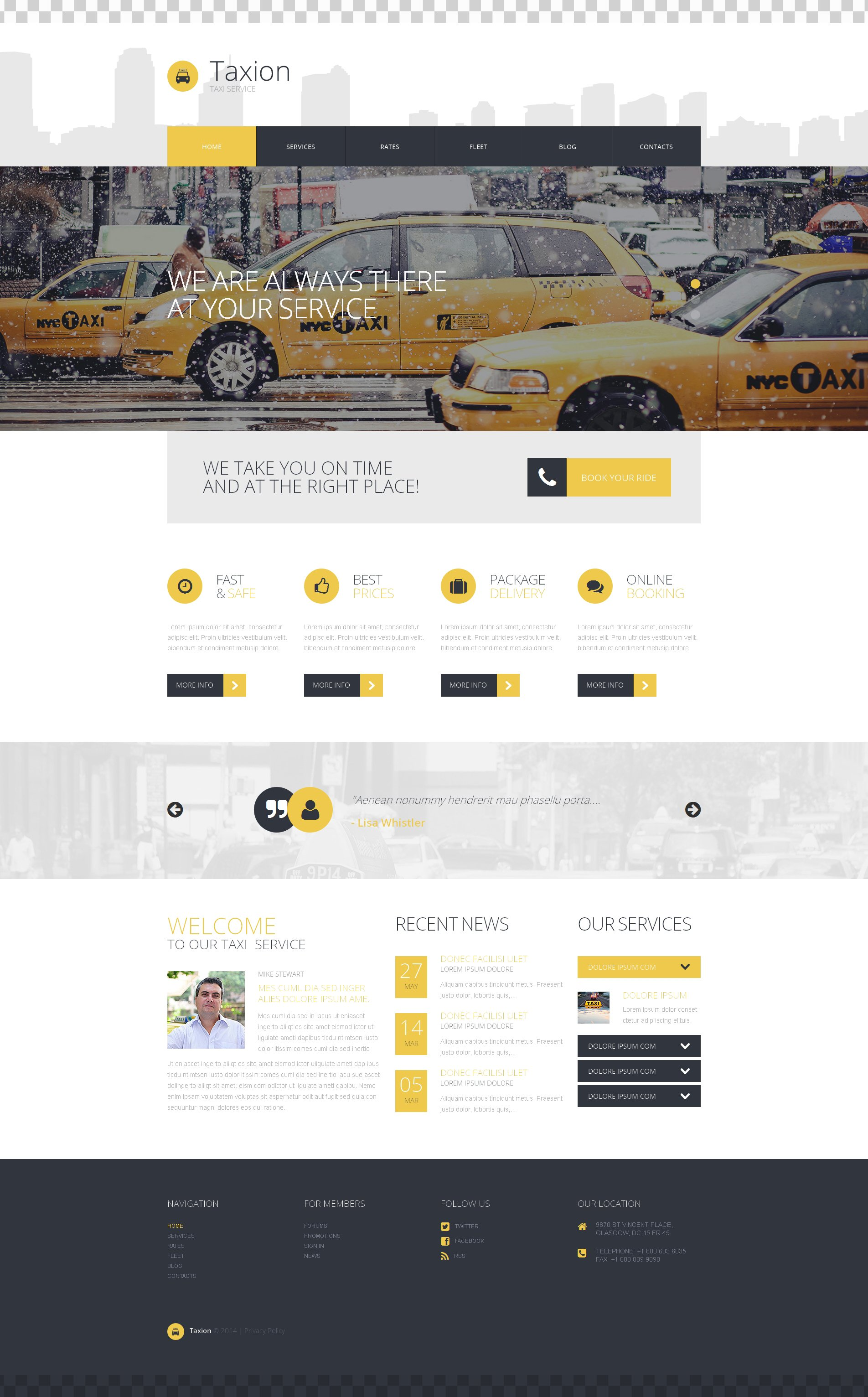 Fast and Furious Cabs WordPress Theme - screenshot