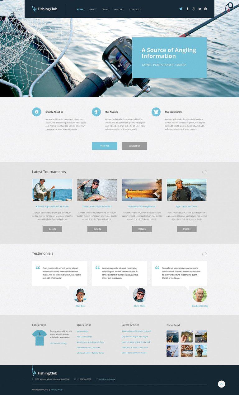 Fishing Responsive WordPress Theme New Screenshots BIG