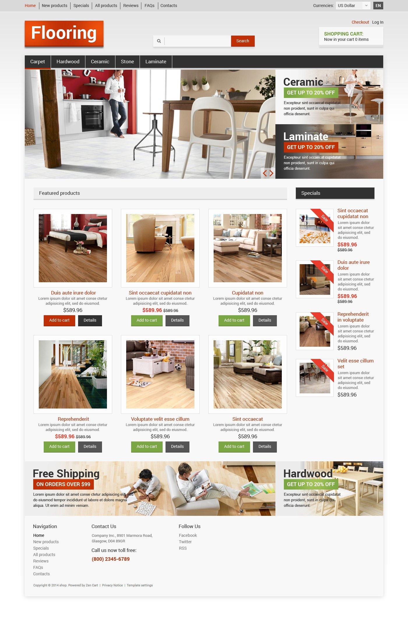 Flooring ZenCart Template