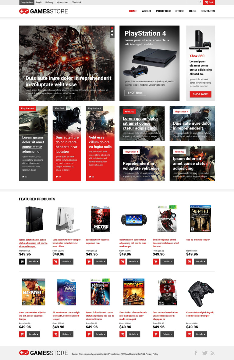 Games Responsive WooCommerce Theme New Screenshots BIG