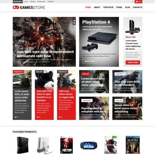 Games Store - WooCommerce Template based on Bootstrap