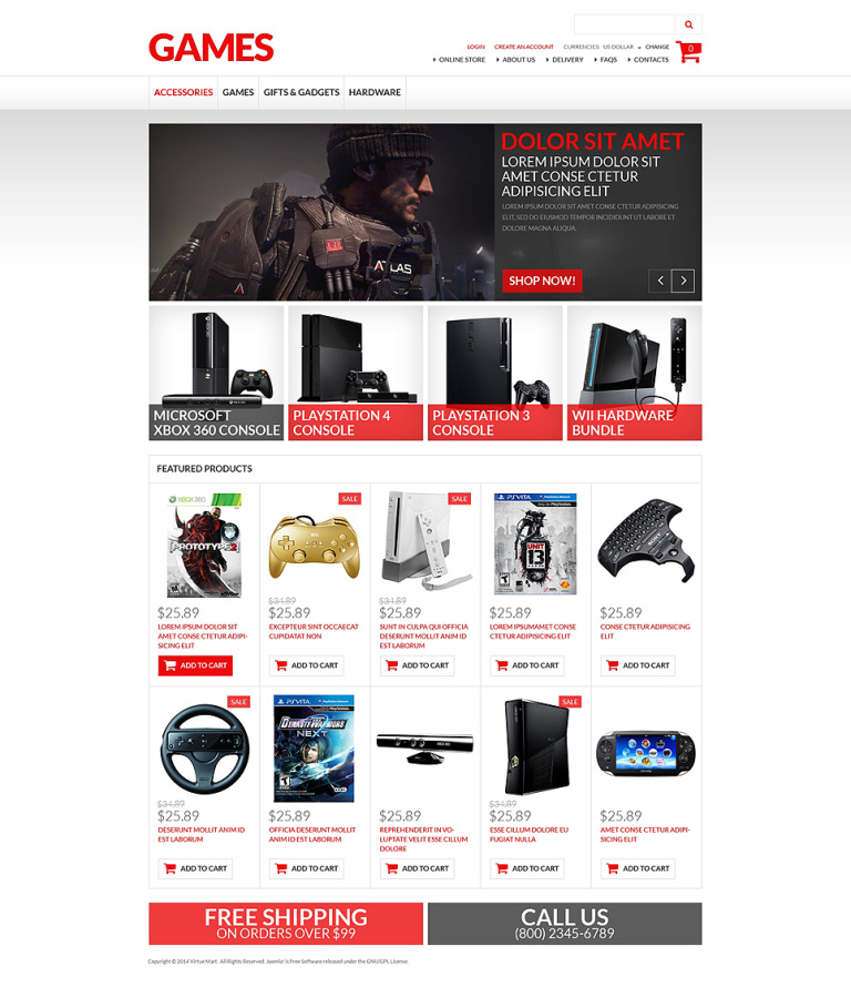 Games VirtueMart Template New Screenshots BIG