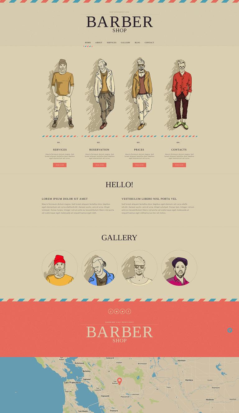 Hair Salon Responsive Website Template New Screenshots BIG