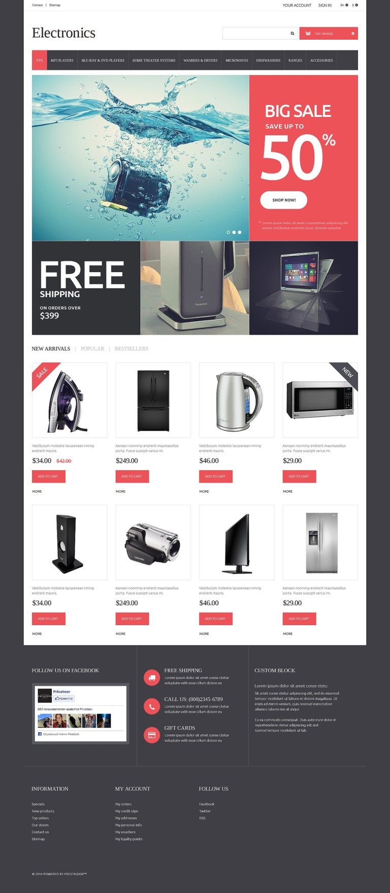 Home Electronics PrestaShop Theme New Screenshots BIG