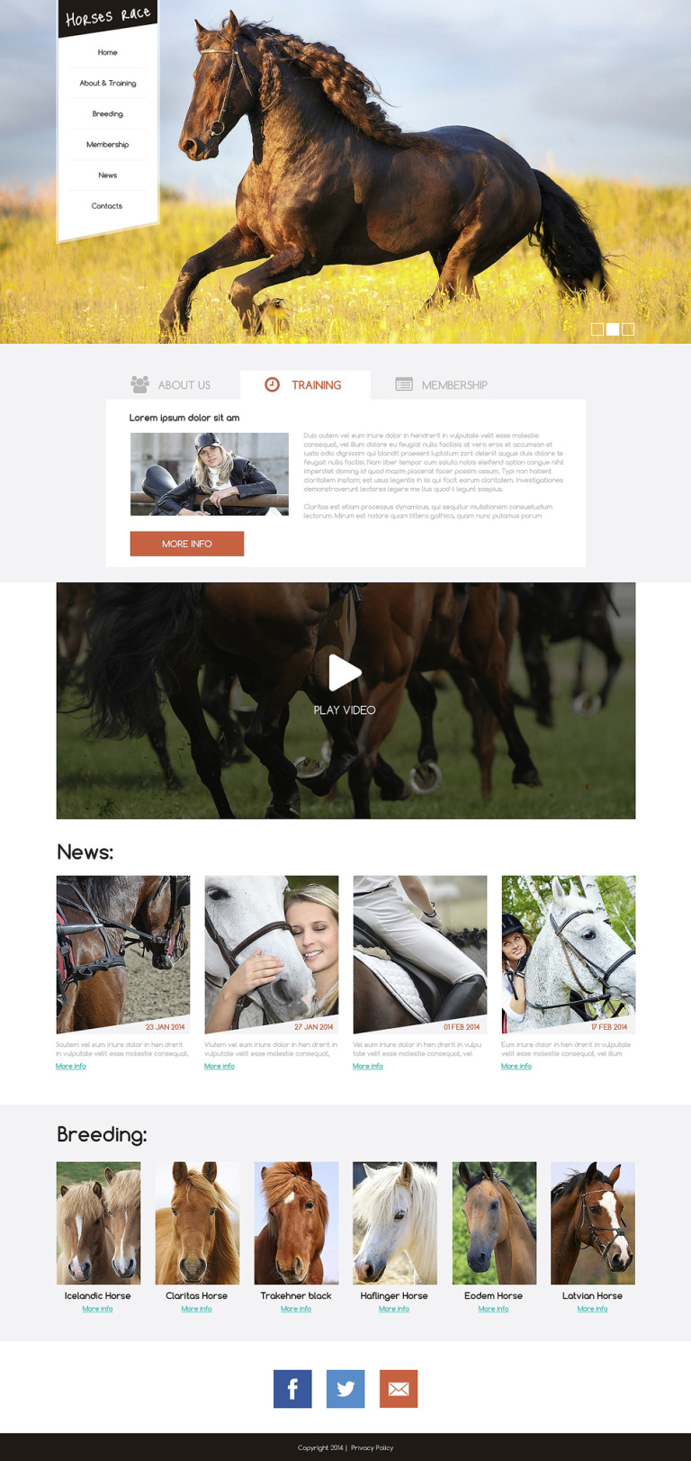 Horse Racing Drupal Template New Screenshots BIG