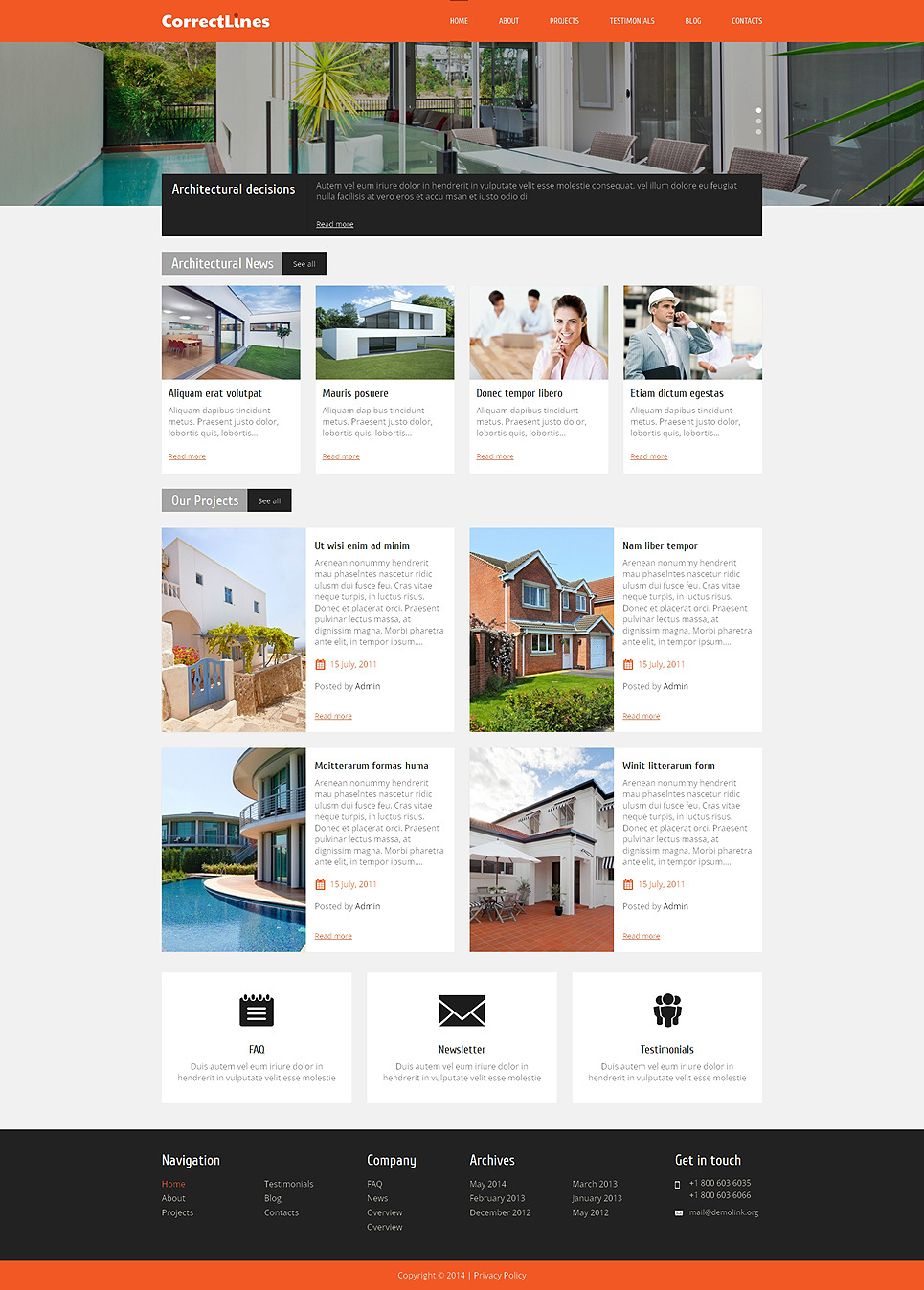 Ingenious Architecture WordPress Theme New Screenshots BIG