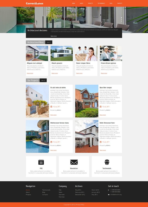 Ingenious Architecture WordPress Theme New Screenshots BIG