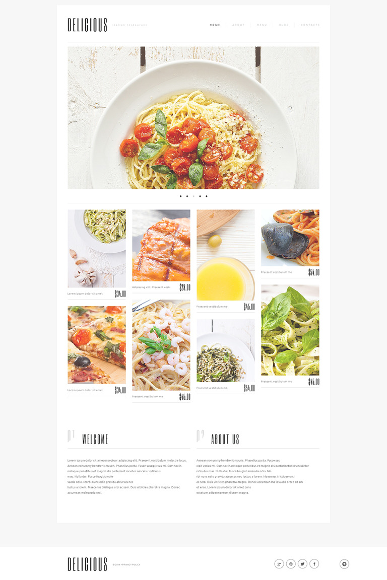 Italian Cuisine WordPress Theme New Screenshots BIG