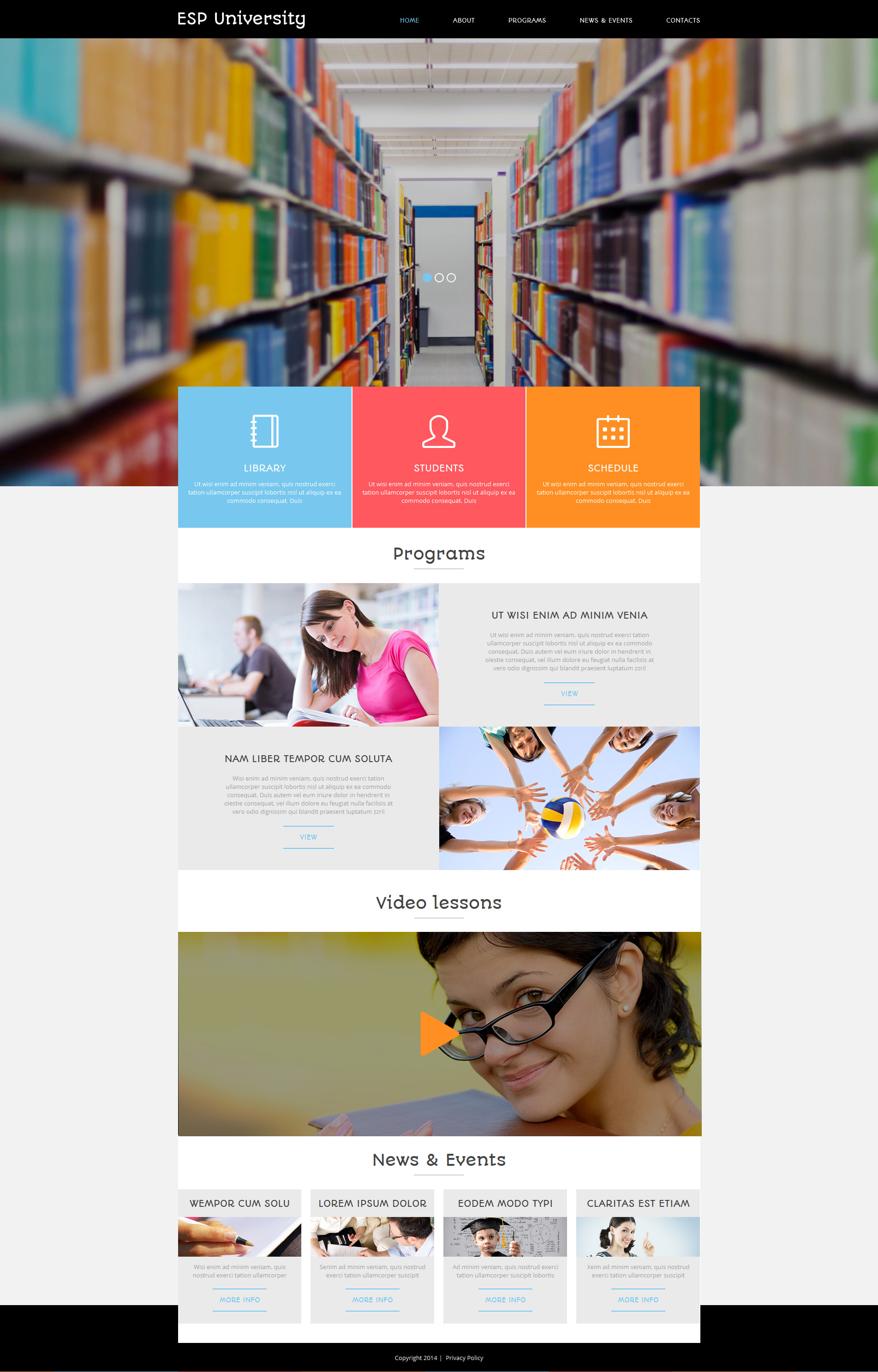 "Joomla Vorlage namens ""Education Centre"" #50797 - Screenshot"