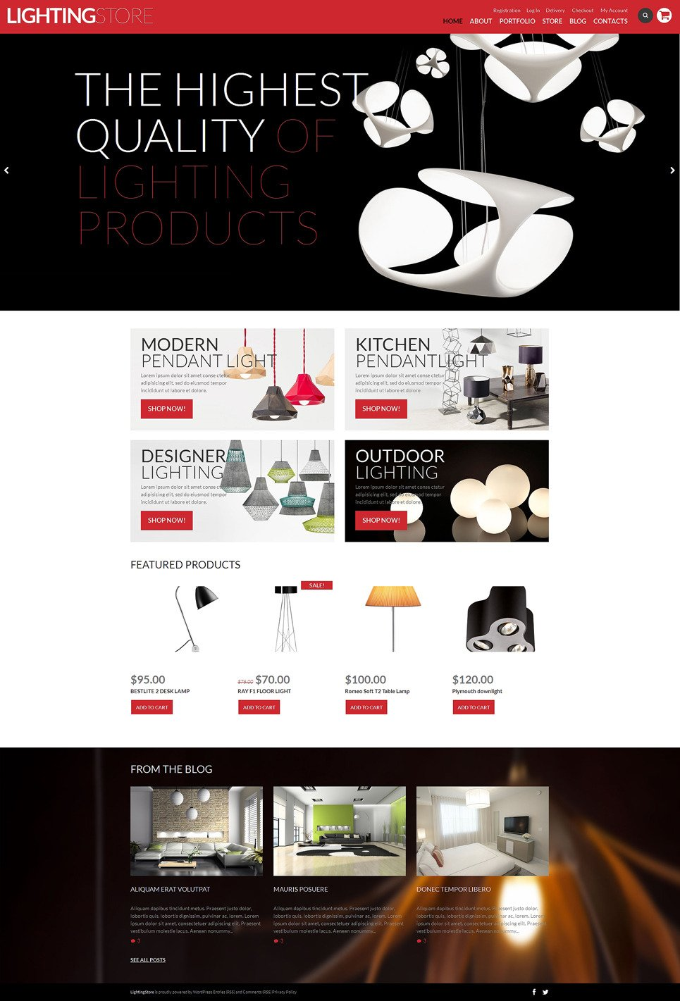 Lighting Store WooCommerce Theme New Screenshots BIG