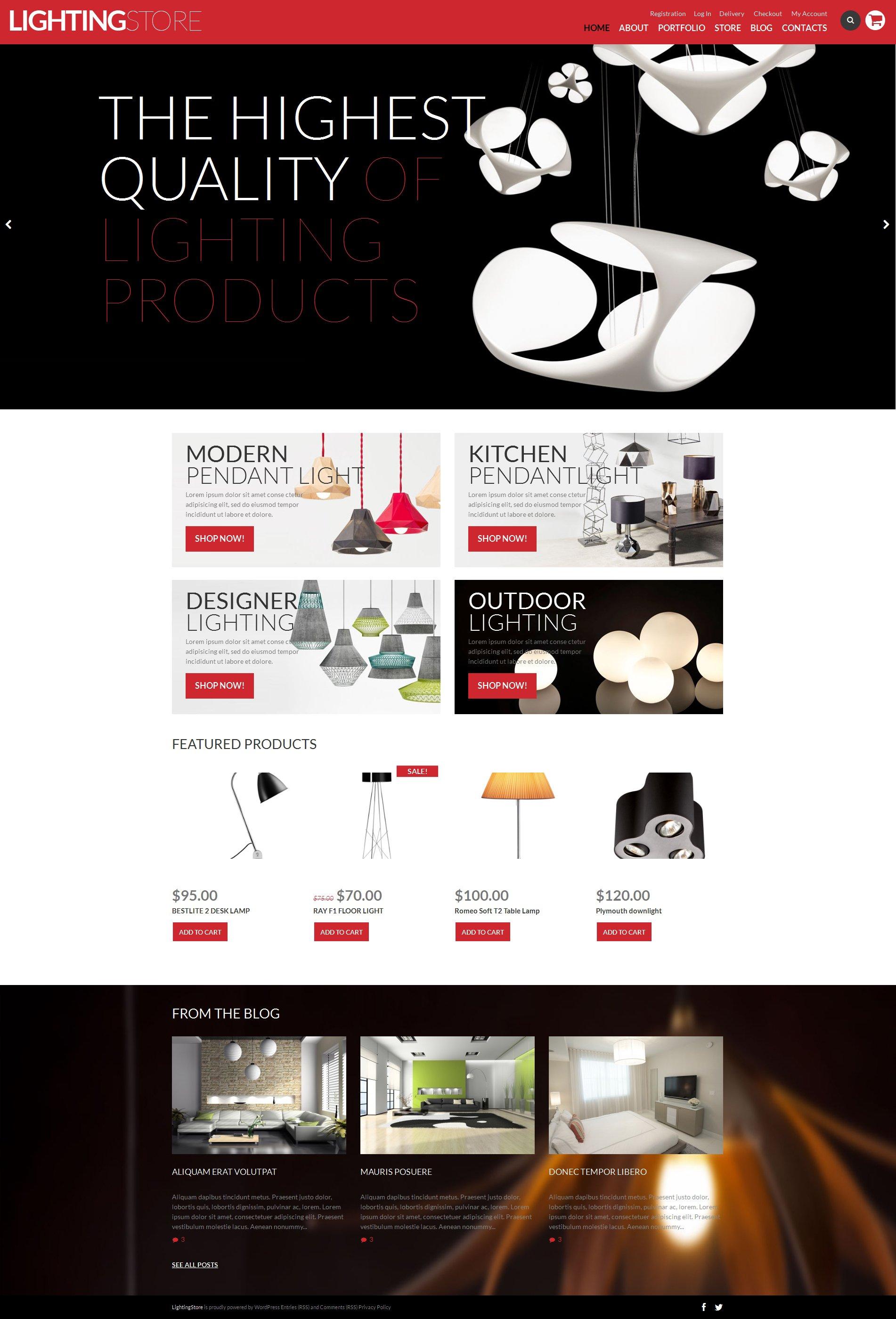 """Magasin d'éclairage"" thème WooCommerce adaptatif #50746"