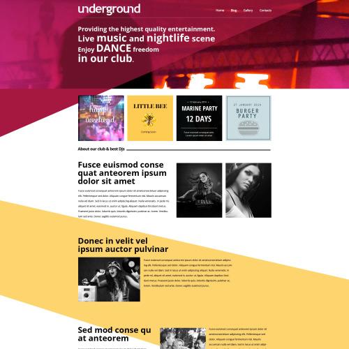Underground - HTML5 Drupal Template