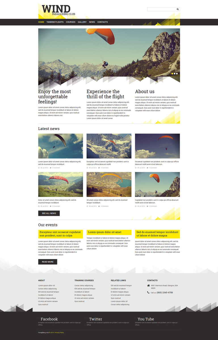 Paragliding Responsive Joomla Template New Screenshots BIG