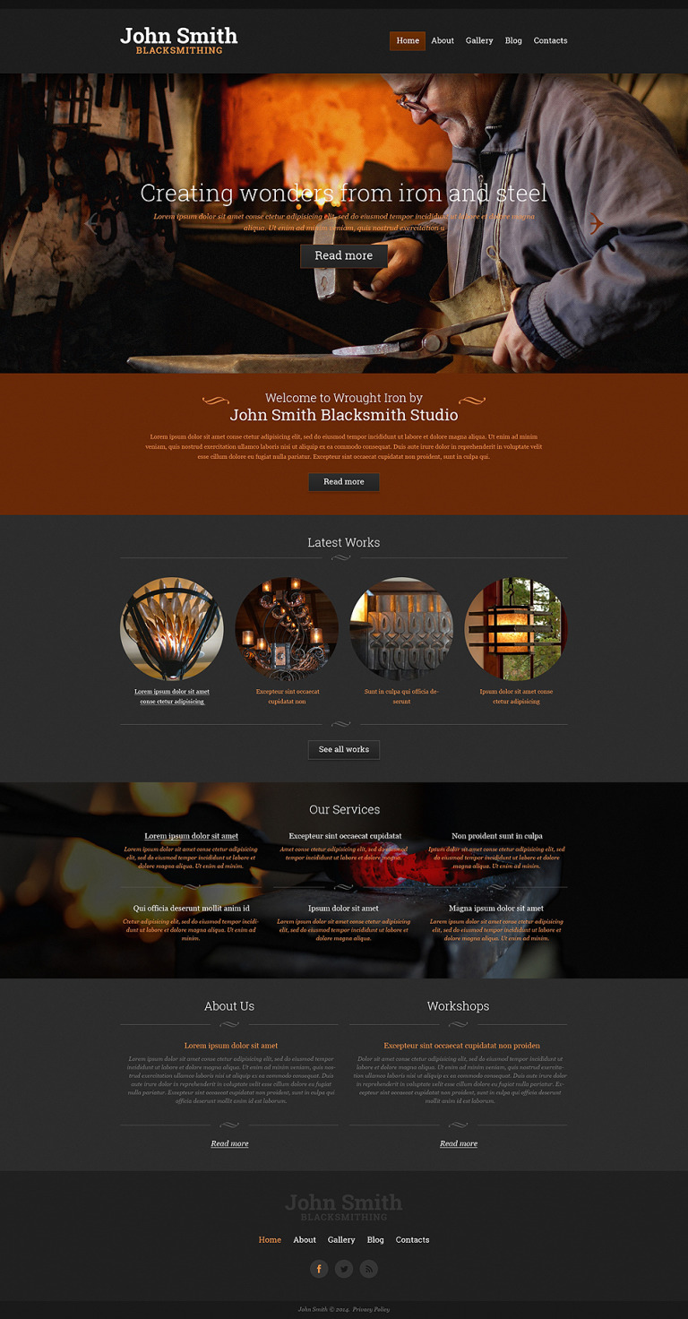 Personal Page Responsive Website Template New Screenshots BIG