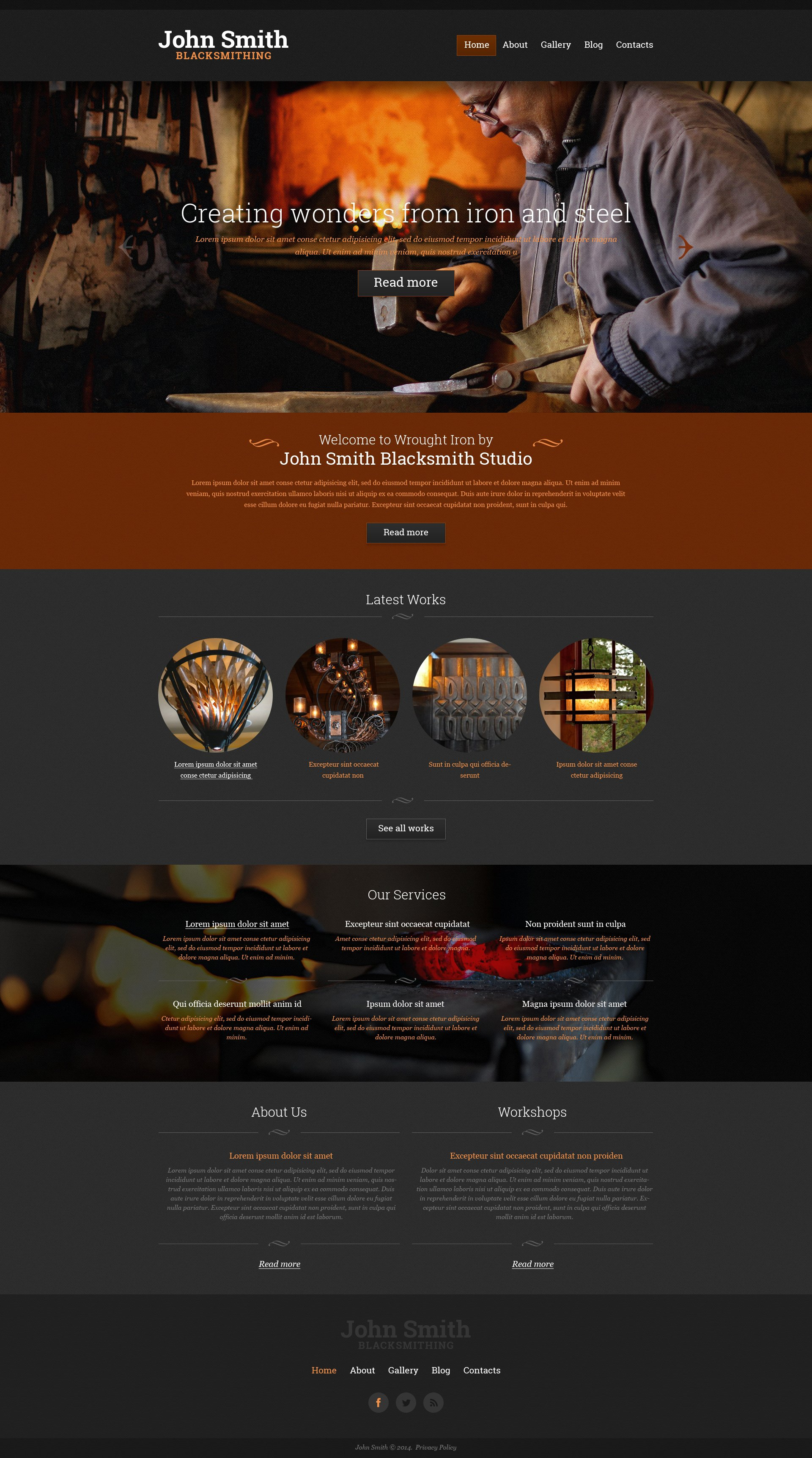 Personal Page Responsive Website Template - screenshot
