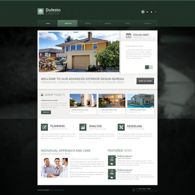 Plantilla Drupal #50790 para Sitio de  para Sitio de Diseño de exteriores