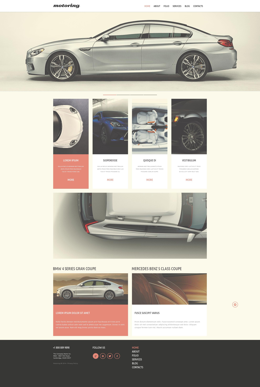 Plantilla Web Responsive para Sitio de Clubes de coches #50717 - captura de pantalla
