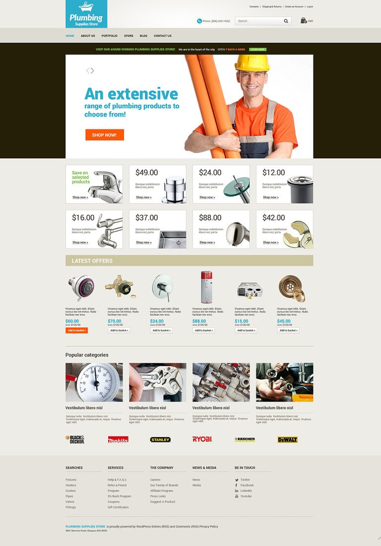 Plumbing Renovations WooCommerce Theme New Screenshots BIG
