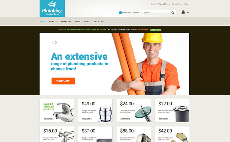 Plumbing Renovations WooCommerce Theme