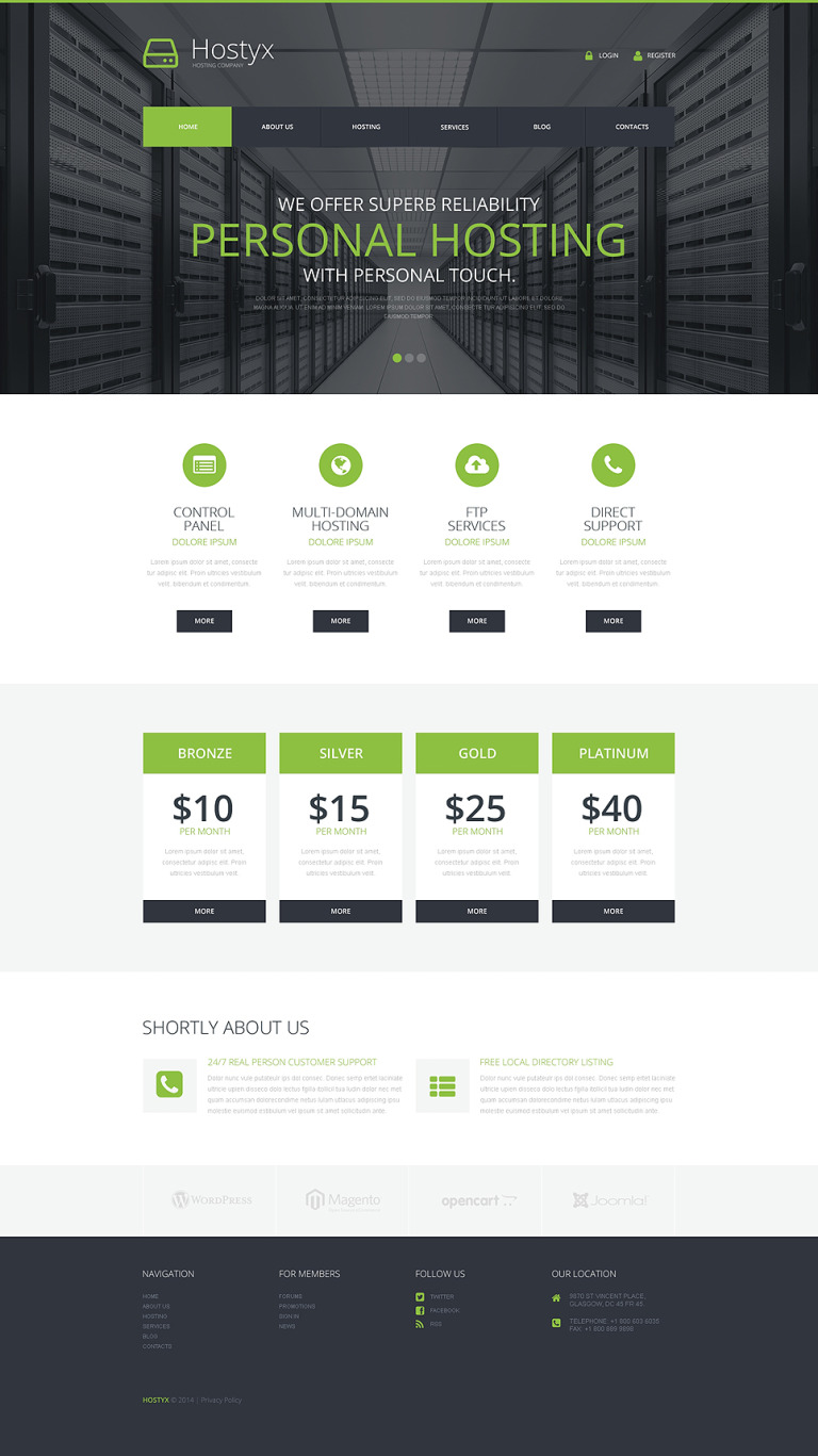 Reliable Hosting Company WordPress Theme New Screenshots BIG