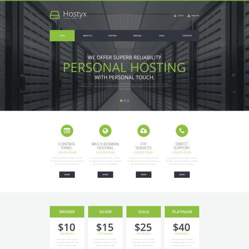 Hostyx - WordPress Template based on Bootstrap