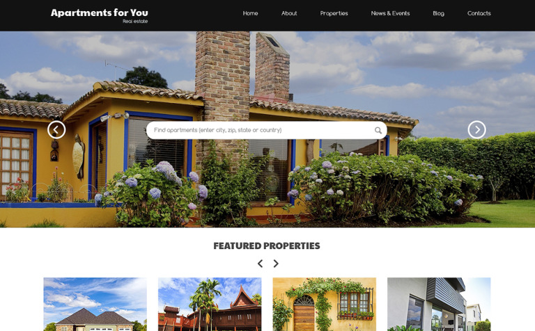 Rent Buy Property WordPress Theme #50761