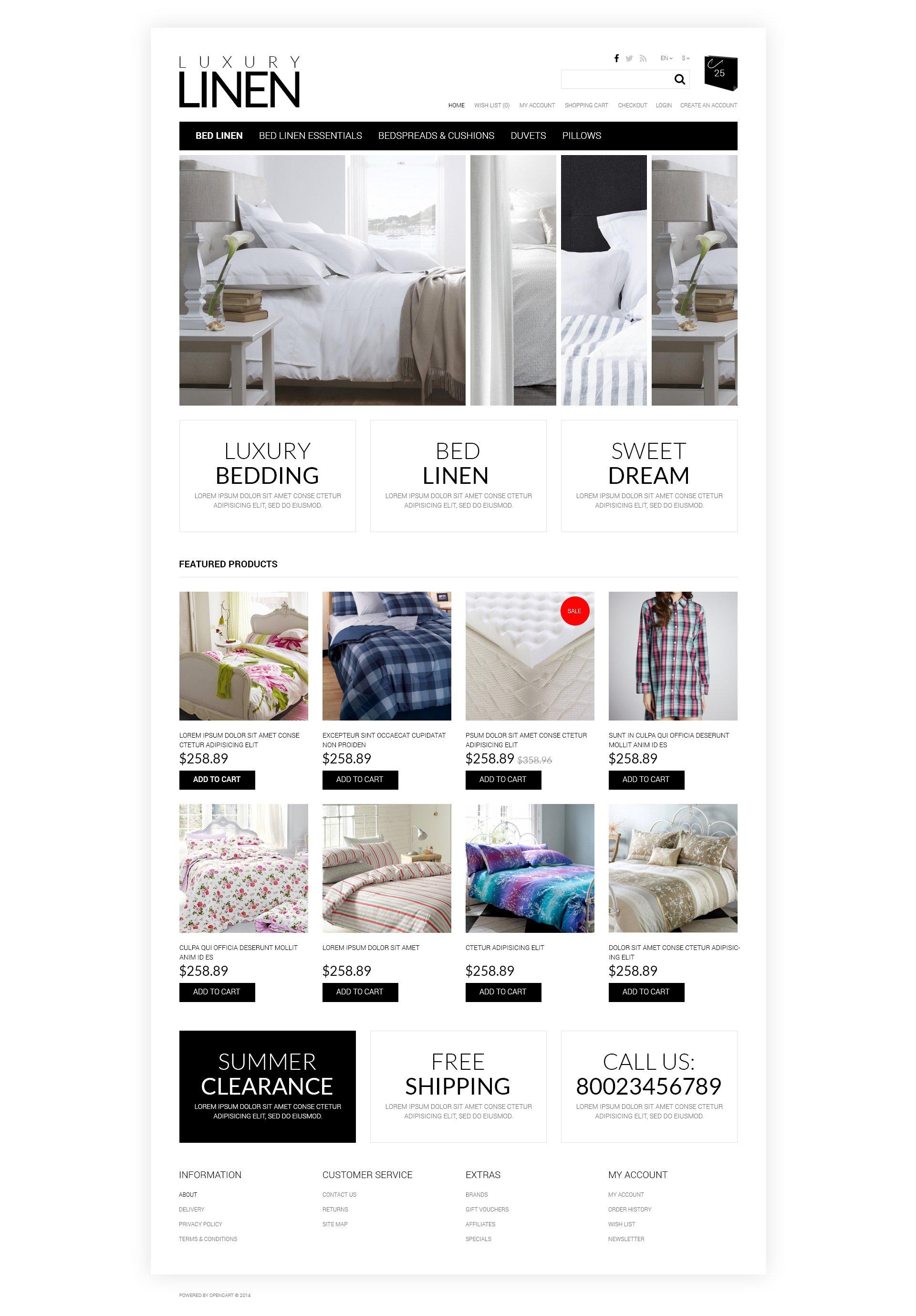 OpenCart Vorlage #50758 für Wohndekor